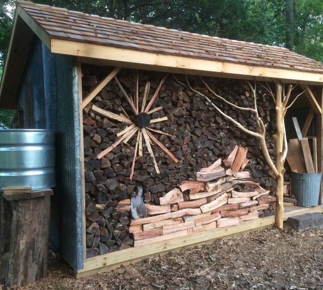 customized_oak frame shed