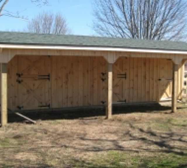 lean to barn 10'