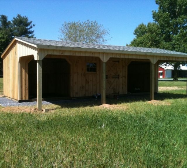 lean to runin shed with tack room