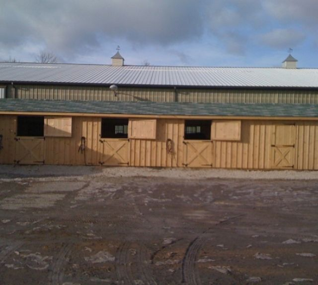 row barn 12x48 four stalls