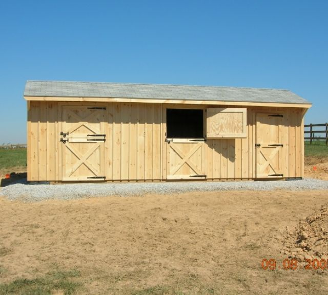 row barn 10x28 2 stall with tack room