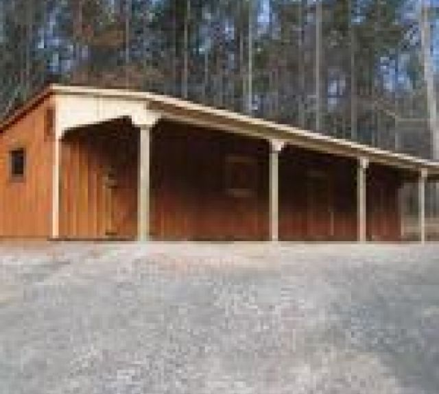 lean to barn 10x48