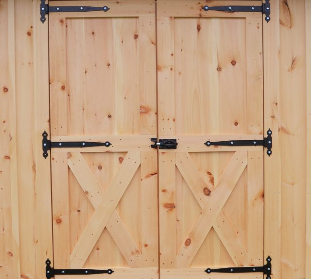 storage shed_double doors_powder coated hinges
