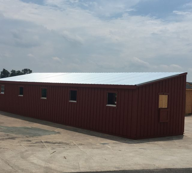 12x50' lean to barn-03